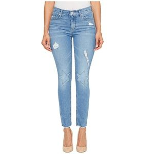 Lucky Brand Skinny Mid-Rise Jeans Ripped Patches